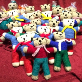 Beautiful bears collected from our Mpophomeni knitters