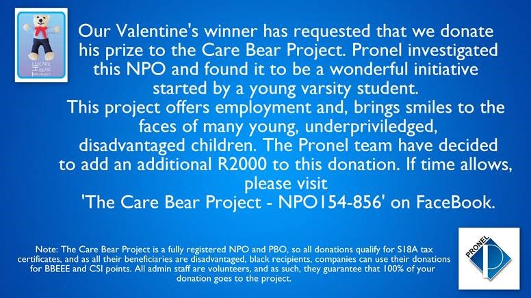 Pronel and Valentines Day love for the bears